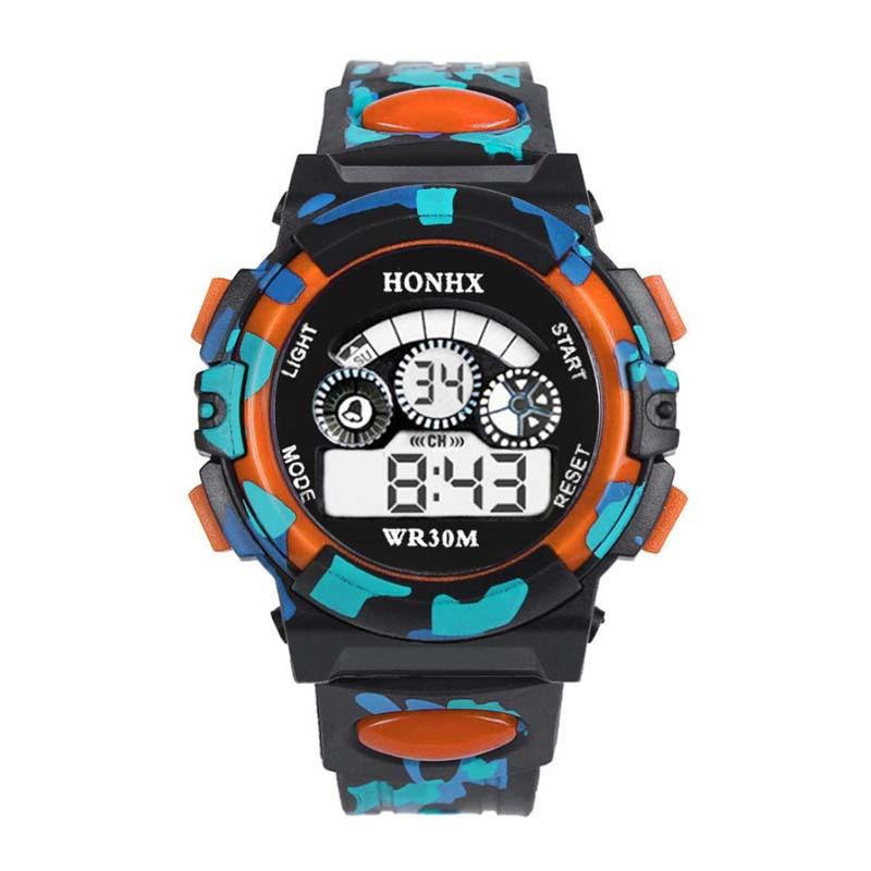 de5b7a6c3402 Kids Boys Girls Sport Digital Watch Children Outdoor LED Light Camo Wrist  Watche