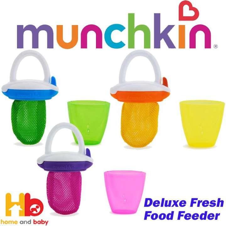 Munchkin Deluxe Fresh Food Feeder Yellow Green Pink 3 Count