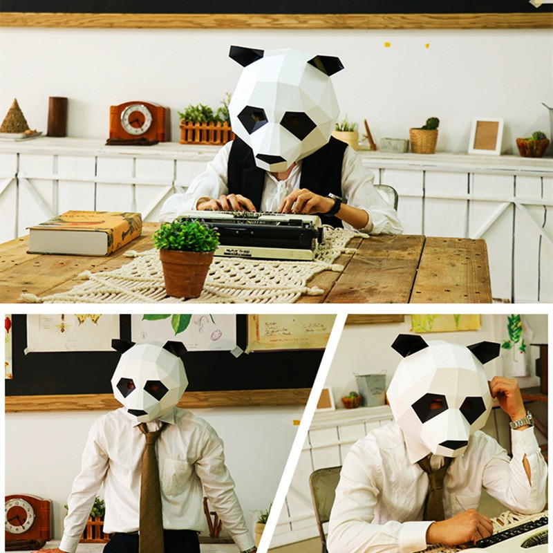 27+ Diy Panda Party Mask – 3D Papercrafts DXF