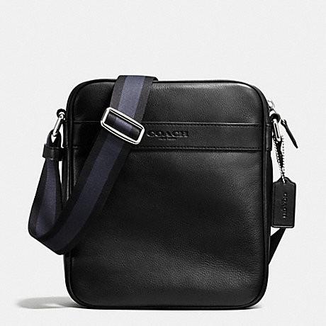 Coach Charles Flight Bag In Smooth Leather (F54782) Black  6cbb45e9ad