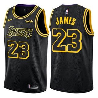 factory price 9079e 93095 Nice Nike Lakers #23 LeBron James Black NBA Swingman City ...