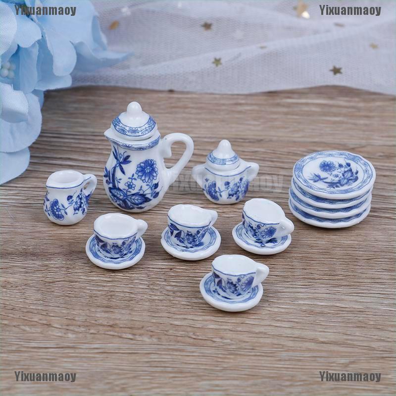 Nordic Style Tableware Plate 1//12 Dollhouse Miniature Kitchen Scenes Blue
