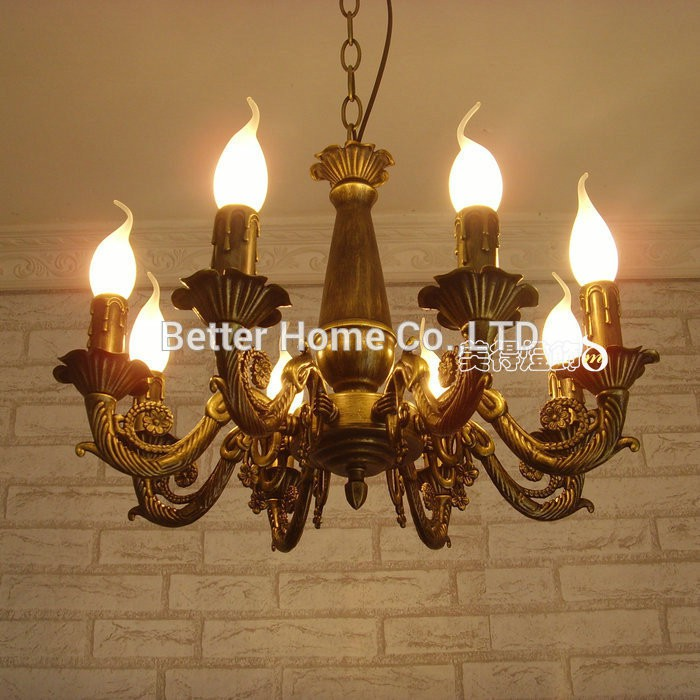 Modern Chandelier Light Antique Iron