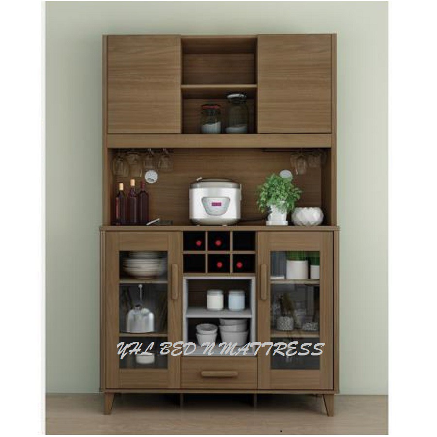 Madesa Sideboard Buffet Living Room Cabinet 6 Shelf 3 Cupboard Hallway Storage Tv Stand White Dining Room Furniture Sideboards