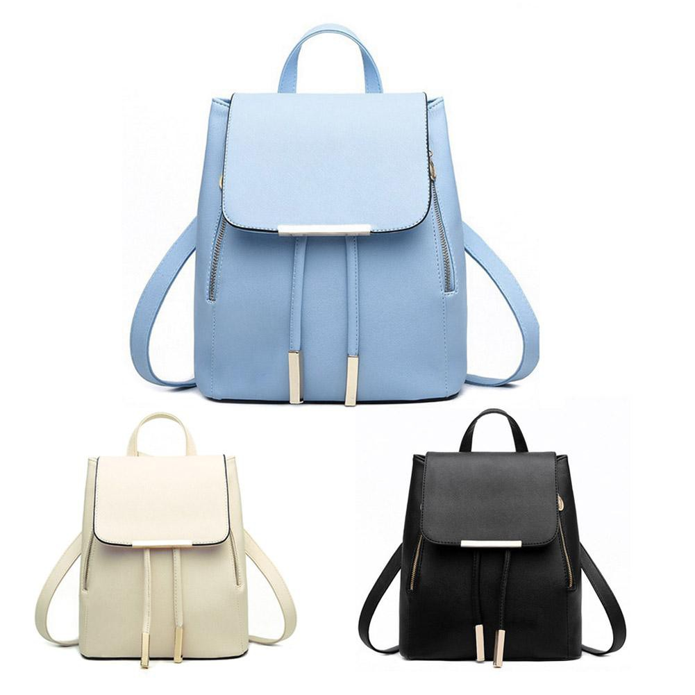33774e643b6c Soft Leather Travel Backpack Fashion Women Casual Beg Bags Shoulder  Backpacks