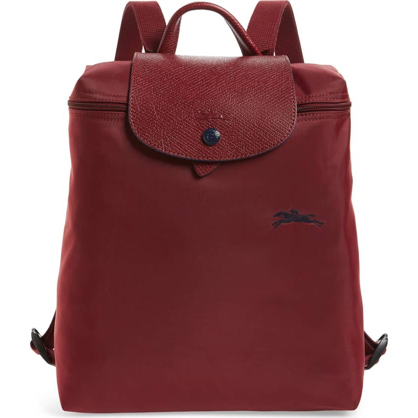 Longchamp Le Pliage Club Backpack - Garnet Red (Comes with original receipt)