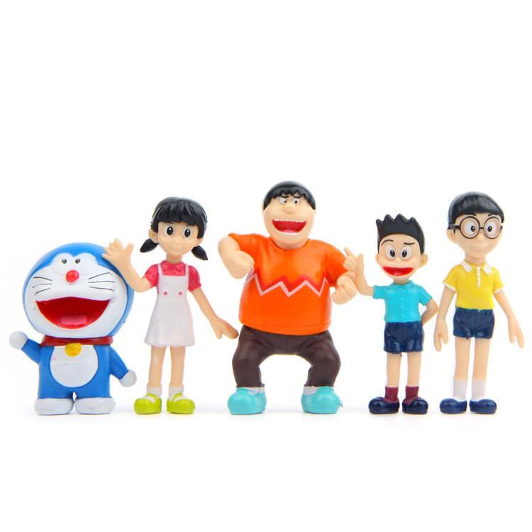 4pcs DORAEMON Shizuka minamoto Takeshi goda Drami doranikov Figure Cake Topper