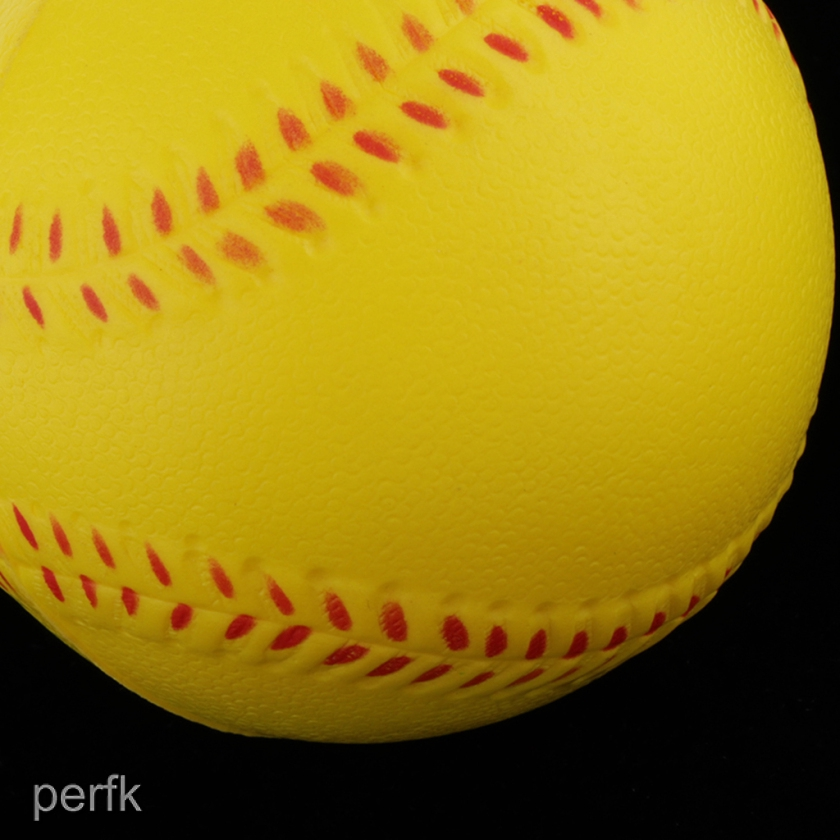 Available 3 Sizes MagiDeal PU Foam Training Ball for Softball and Baseball Practice Yellow