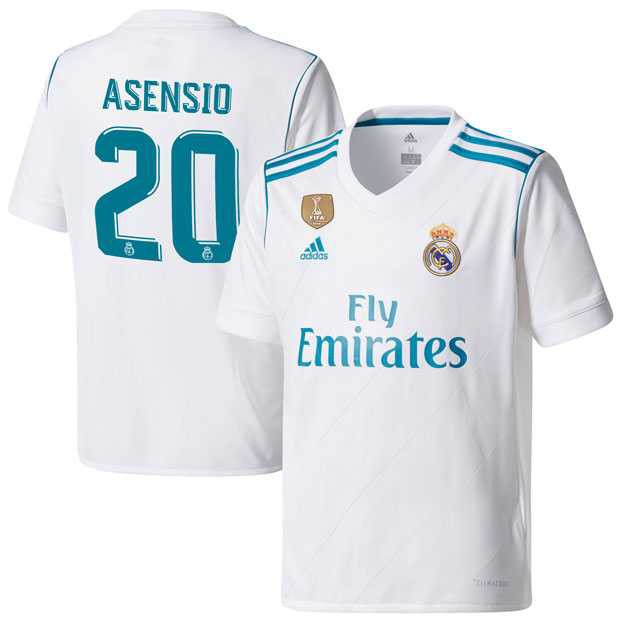 wholesale dealer a1f92 0e02e 17/18 Adidas Real Madrid Home jersey Soccer Men's jersey ASENSIO 20#
