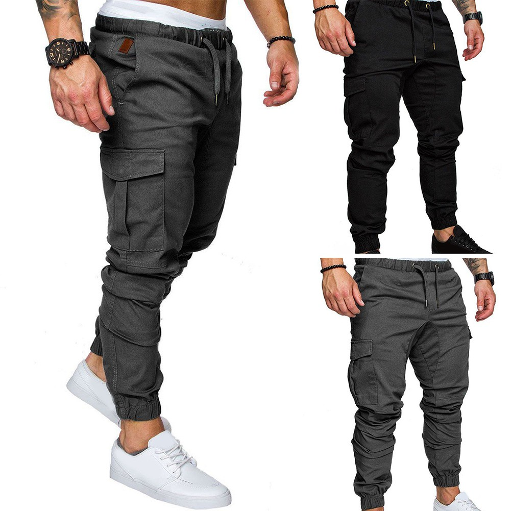 clear and distinctive superior materials wholesale outlet Men Casual Pants Sportwear Fashion Straight Leg Cargo Tracksuit Trousers  Jogger