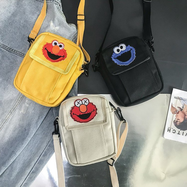 Sesame street elmo shoulder bag Cycling bags money phone holder unisex new