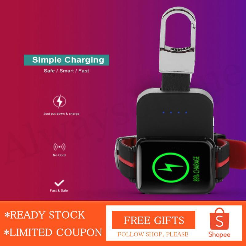 [Alwaysonline] Portable Mini QI Wireless Charger Power Bank For iWatch 1 2  3 4 External Battery