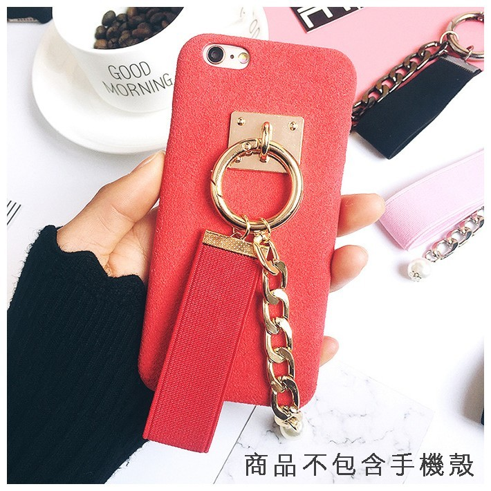 new concept 8032b b4bb2 〖鎂殼 Strap DIY Korean phone case Pearl Metal Chain Strap Buckle OPPO iPhone7  J7