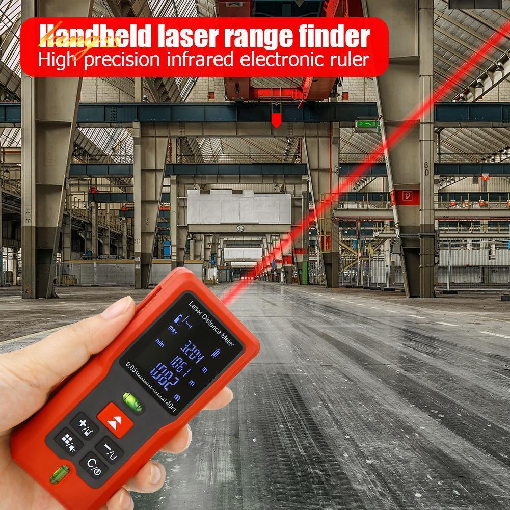 EG/_ 40//60//80//100M Mini Digital Laser Distance Meter Range Measure Diastimeter Ey