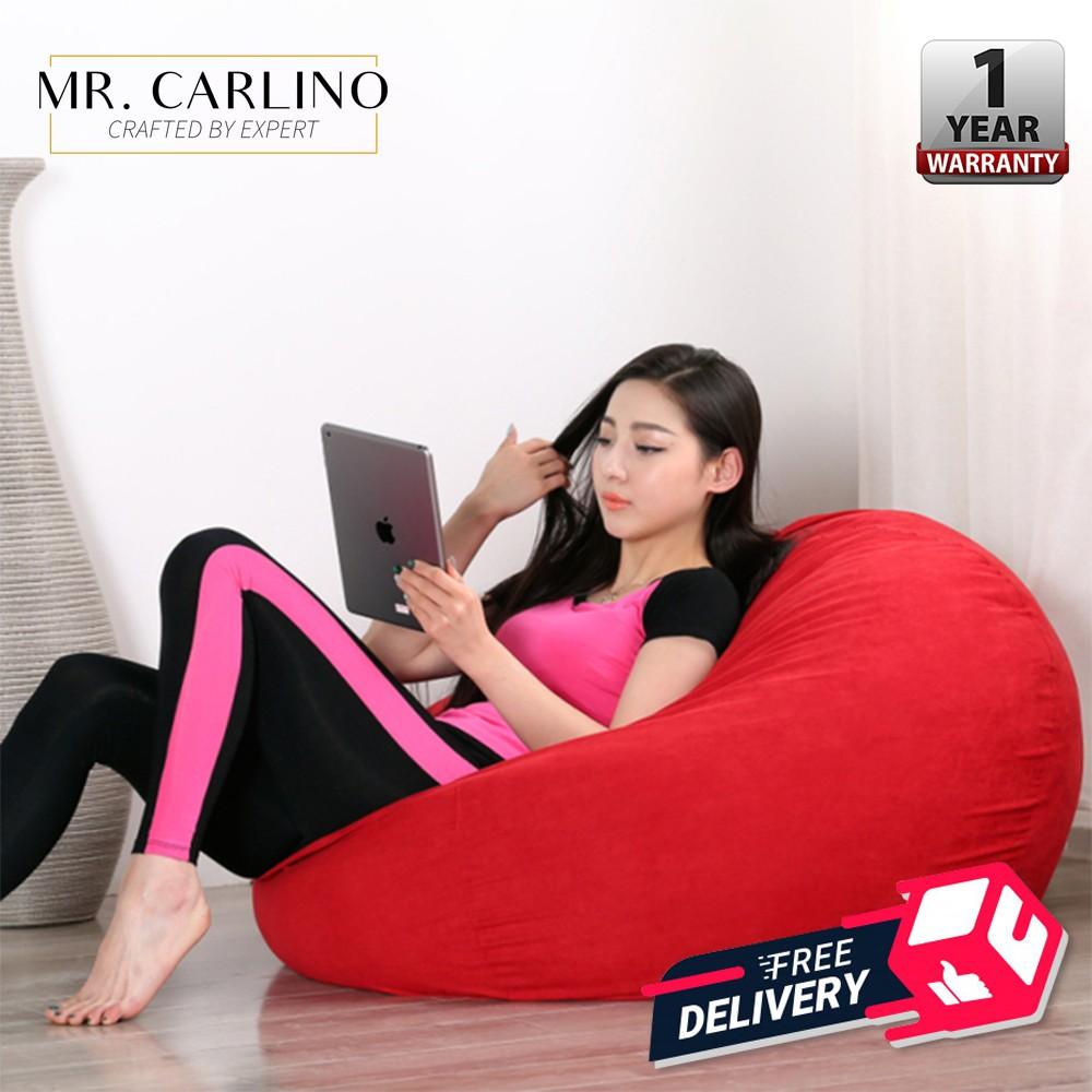 Rocha 2 5kg Fabric Bean Bag Sofa Chair