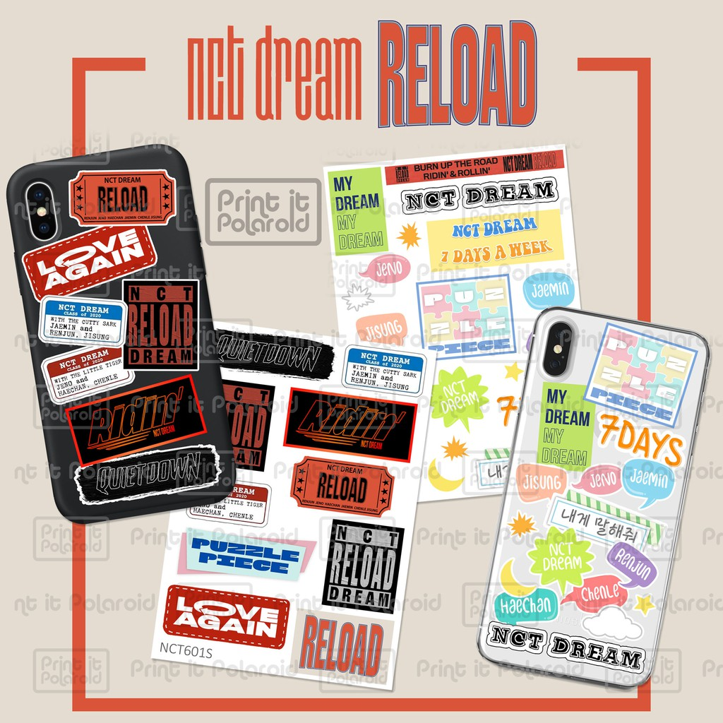 Nct Dream Reload Stickers Casing Hp Laptop Book Diy Sticker Kpop Korea Tumblr Name Kpop Esthetic Shopee Singapore