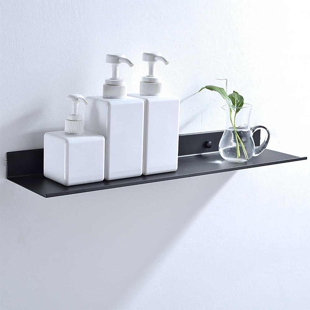 Floating Shelf Space Aluminum Black, Bathroom Ledge Shelf