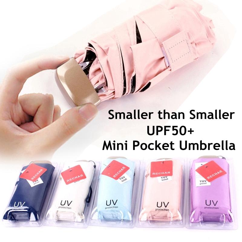 e15b4da168bd MINI Waterproof UV Pocket Umbrella Folding Umbrellas Rain Umbrella UPF 50+