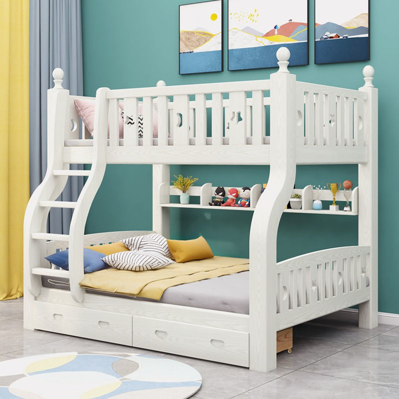 Children S Solid Wood Bed Bold Type Bunk Bed Height Bed Mother And Child Bed Shopee Singapore
