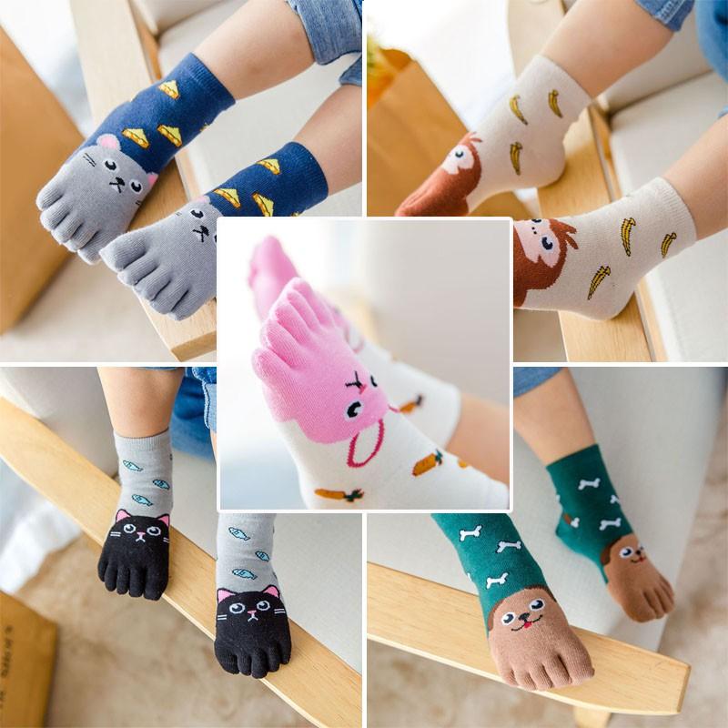 Cute Baby Socks Kids Cartoon Animal Five Fingers Sock Hosiery Toe Socks
