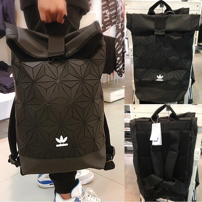 837a3c3babbc 🎒AUTHENTIC🎒Blue Pearl Black Adidas 3D Mesh Roll Top Backpack Issey Miyake  Bag