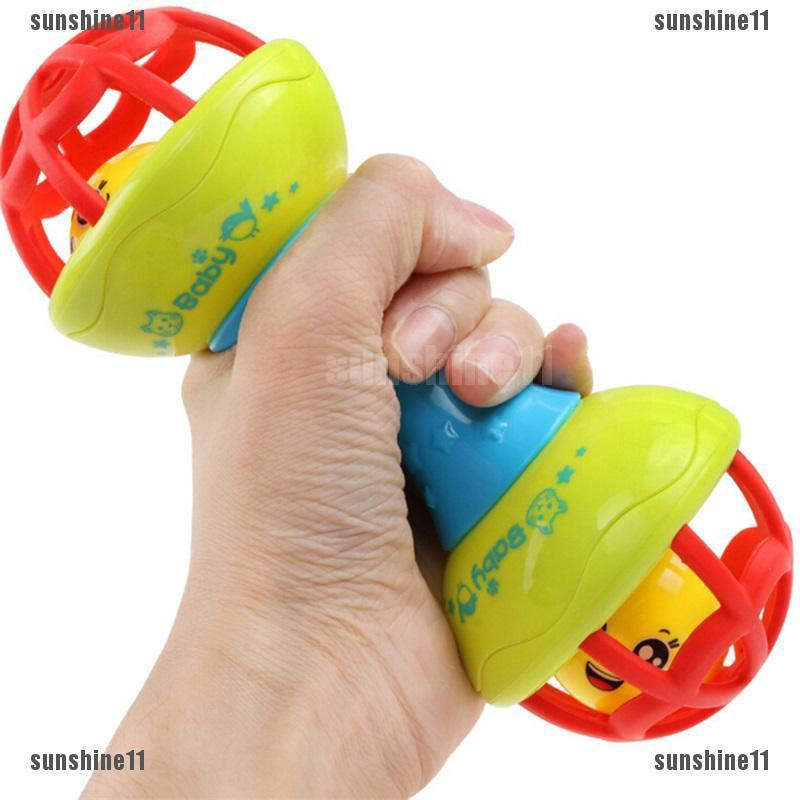 Educational Toy Baby Hand Bell Toy Rattles Sway Grasp Sound Ball Finger Activity