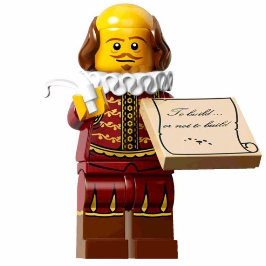 LEGO 71004 Mini Figure // Minifig William Shakespeare The Lego Movie
