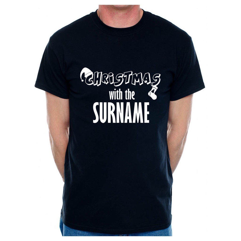 Peralised Men T-Shirt ChristmaWith The Any Surname Your Choice of Name