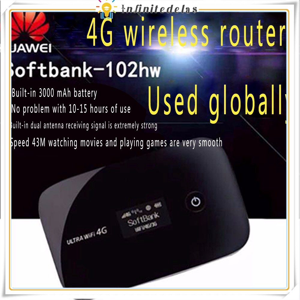 INFINITE HUAWEI HUAWEI 102 Hw 4 G Wireless Router Carry WIFI Artifact