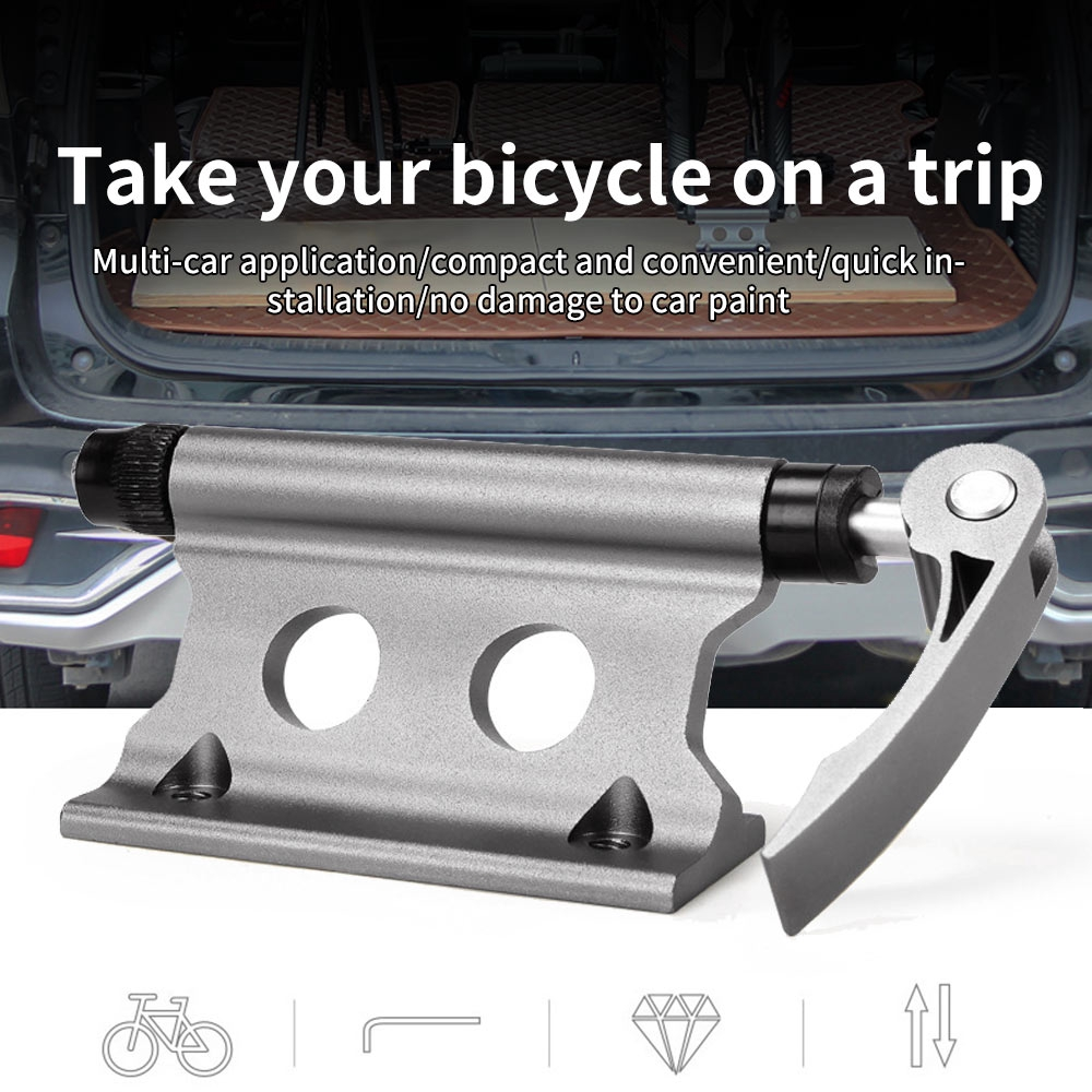 Bike Block Mount Aluminum Alloy Release Bicycle Fork Fixed Clip Luggage Rack UK