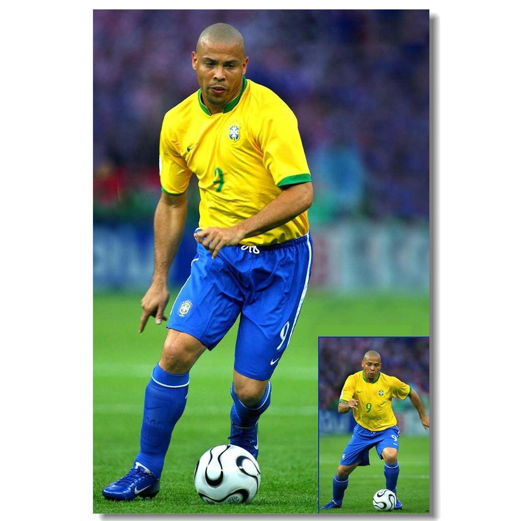 Poster Ronaldo Luiz R9 Football Soccer Star Room Art Wall Cloth Print 502