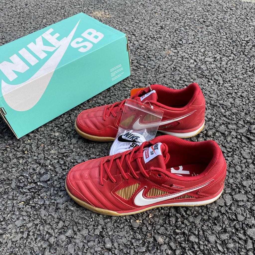 Histérico Corte Aleta  Pre-Order] Nike SB Gato QS x Supreme street futsal shoes sneakers | Shopee  Singapore