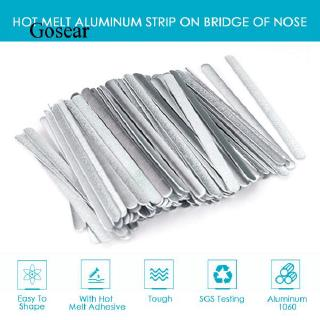 100 Pieces Aluminum Nose Bridge Strips and 100 Yards Elastic Cord Band for DIY Sewing and Crafting 100 Pieces Adjustable Buckle Adjustment Lanyard Elastic Buckle