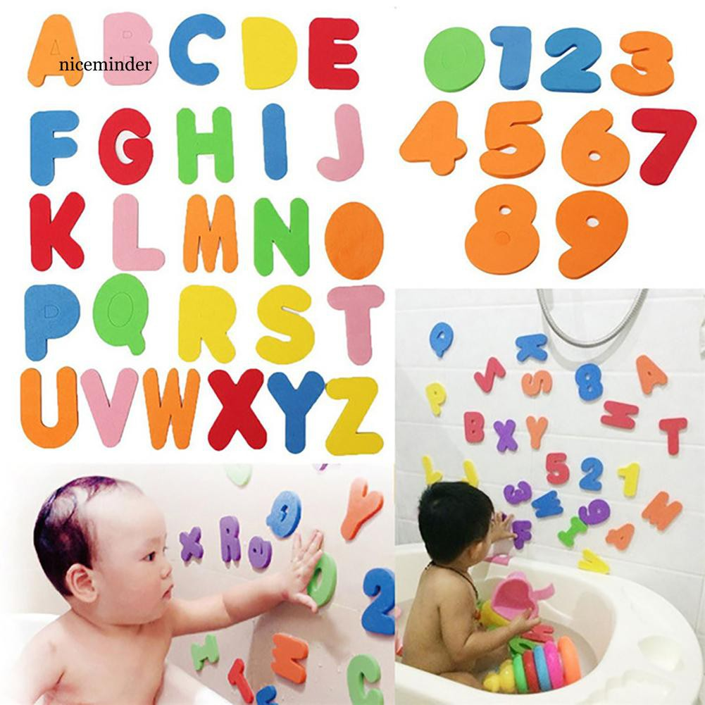 36x Kid Bath Learn Letters /& Numbers Stick Floating Baby Bathroom Water Game Toy