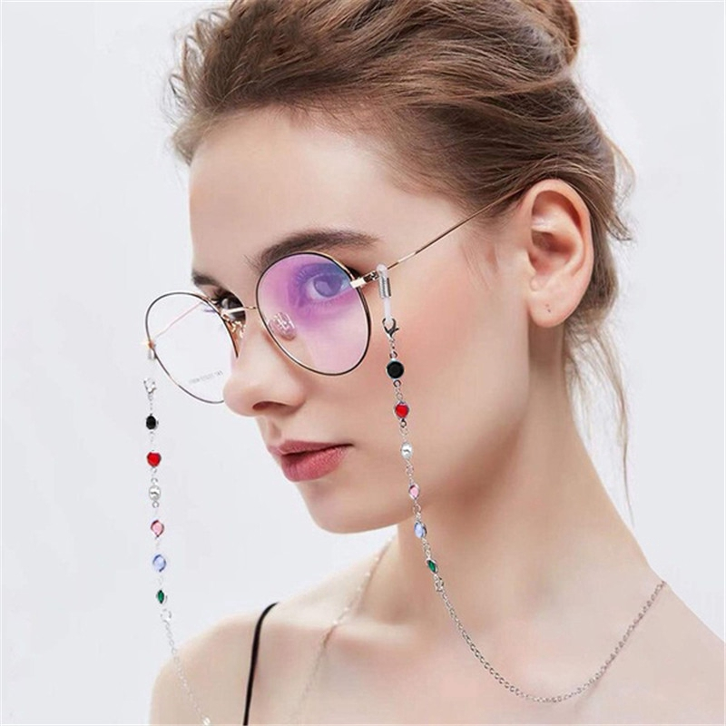 NEW Black Chunky Big Oversized Chain Sunglasses Spectacle Glasses Cord Holder