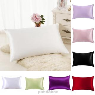 NICE Silk Pillowcase Simulation Silk Soft Pillowcase 8 Colors DIY Home Decor