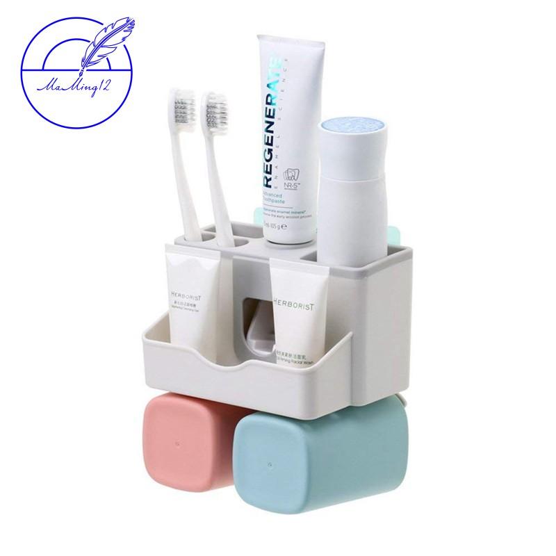 Wall Mount Stainless Steel Toothpaste Dispenser 2//3Position Toothbrush Holder