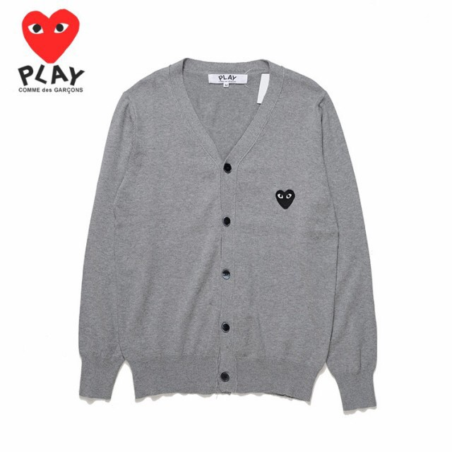 aecfa3bdcce4 COMME des Garcons CDG Play Pure Cotton Fashion Knitted Cardigan Solid  Button V-Neck Casual Short Sweater MenWomen