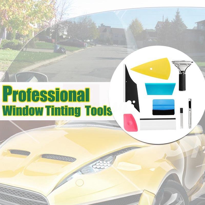 ❀❀8 in 1 Pro Auto Car Window Tint Tools Kit Decals Wrap Cut Glass Film