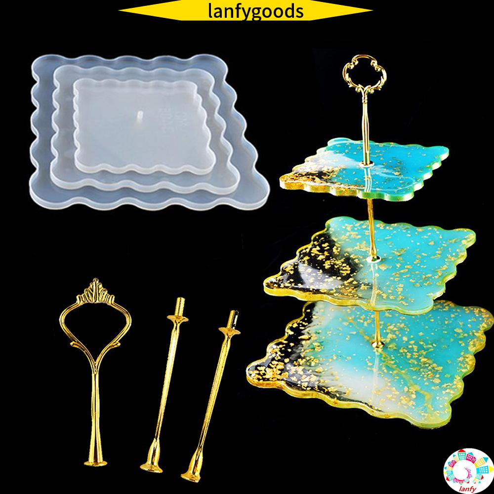 Agate Jewelry Making Mould 3-layer Tray Mold Coaster Epoxy Resin Casting Molds