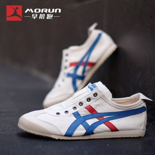 reputable site b4ee2 d80f7 Stock 100%original Onitsuka Tiger slip on TH1B2N-0143 T# running shoes