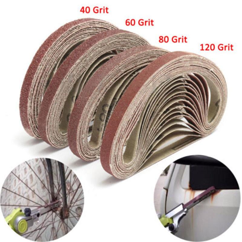 Buy Cheap Sandpaper Sanding Belt Abrasive Band Sander Durable Aluminum Oxide 40-120 Grit~# Modern And Elegant In Fashion Tools