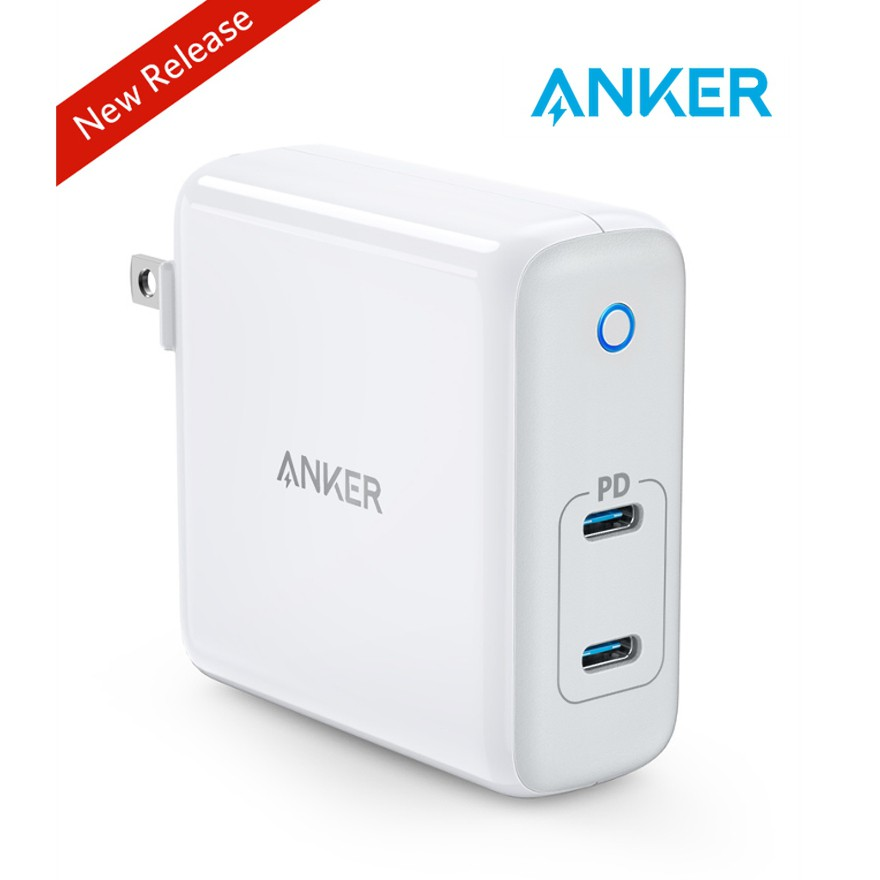 Galaxy Anker 60W 2-Port USB C Charger and More GaN Tech iPad Pro Ultra Compact Foldable Type C Wall Charger Power Delivery for MacBook Pro//Air PowerPort Atom PD 2 iPhone XR//XS//Max//X//8 Pixel