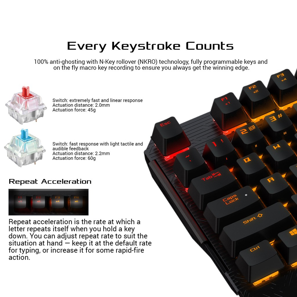 ASUS ROG Claymore Core RGB mechanical gaming keyboard with