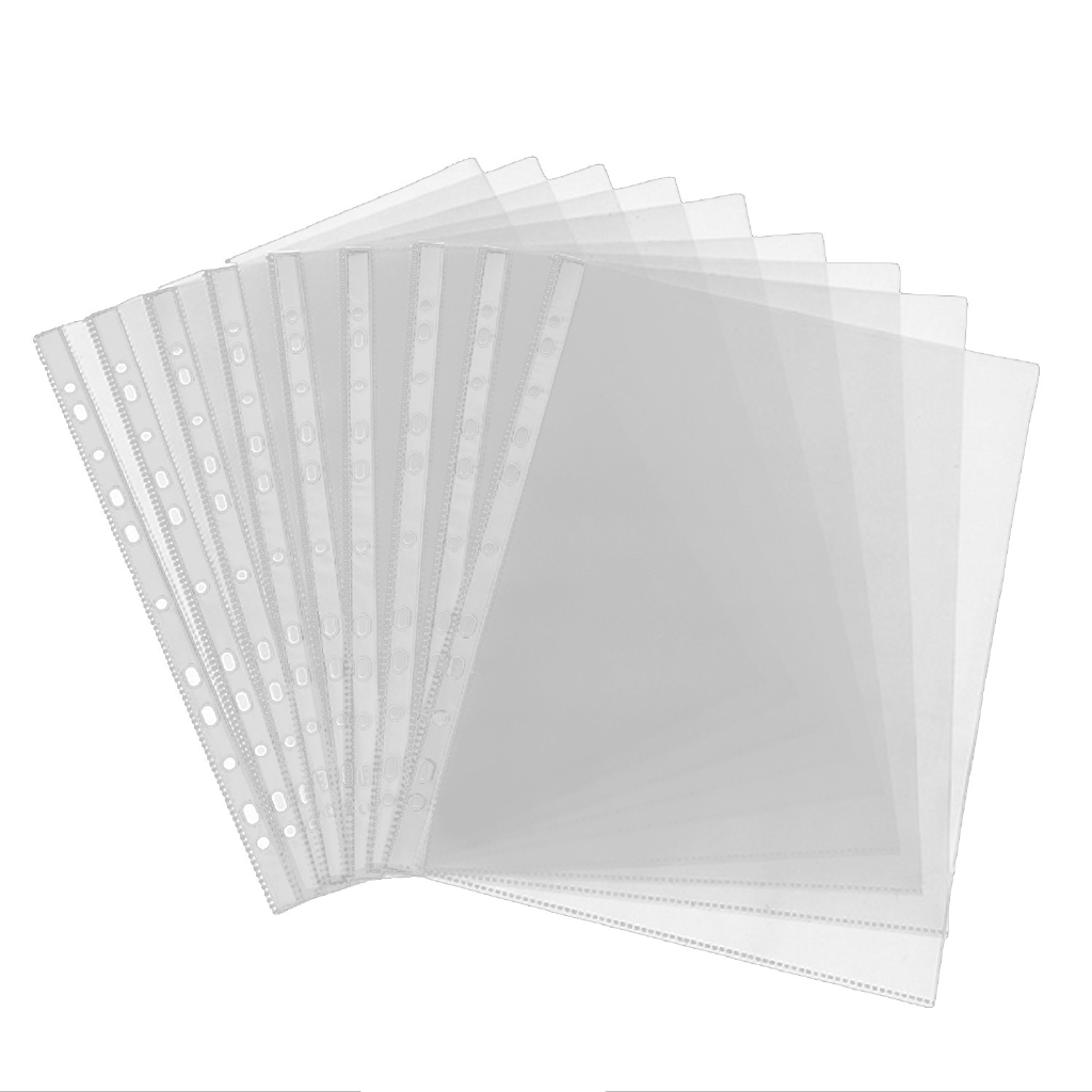 100pcs A4 Size Leaf Clear Pvc Sheet Page Protectors For