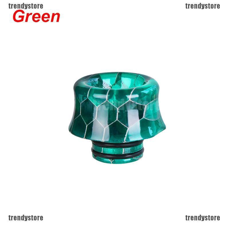 510 Drip Tip Epoxy Snake Skin Resin Mouthpiece Cap for TFV8 Baby Melo HI