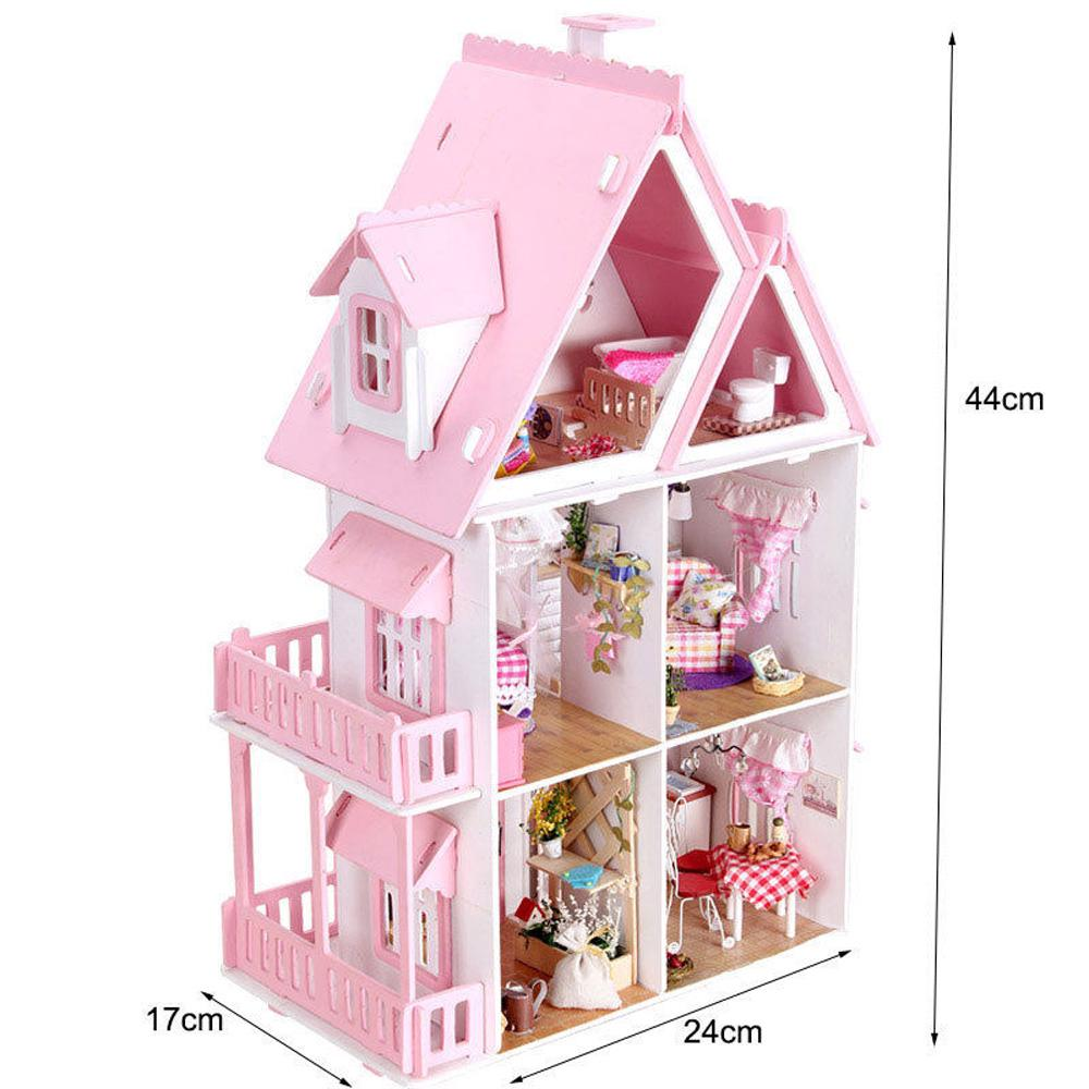 Kids Doll House Large Wooden Play Dollhouse