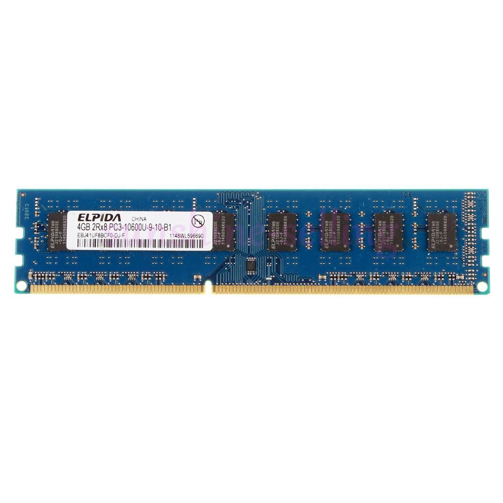 2pcs Elpida 4GB DDR3 1333Mhz PC3-10600U 240Pin Desktop Memory NON-ECC DIMM RAM