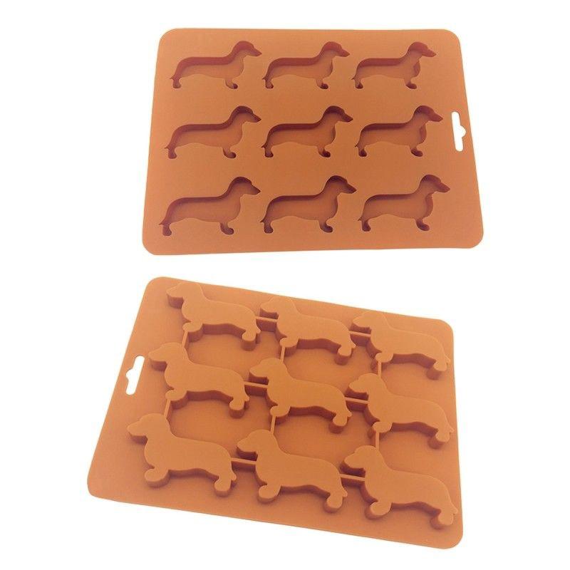 Dachshund Sausage Dog Animal Shape Mold Dog Ice  Cream Cube Chocolate Mould Tray