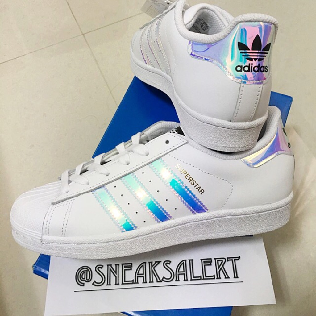 first rate 3c203 194b1 Authentic Adidas Superstar Holographic | Shopee Singapore